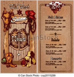 Wild West clipart mexican menu