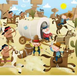 Wild West clipart scene