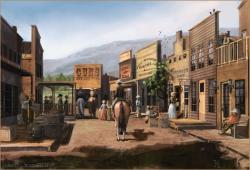 Wild West clipart village