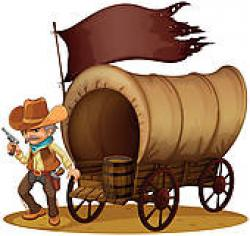 Wild West clipart wagon