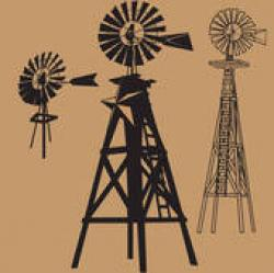Windmill clipart outback