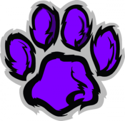 Purple clipart wildcat
