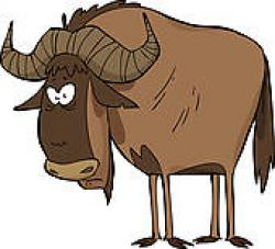 Gnu clipart Wildebeest Clipart