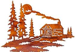 Lodge clipart lake cabin