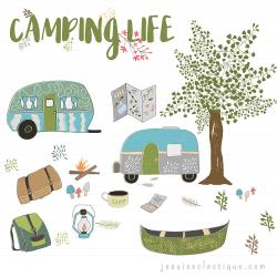 Camp Fire clipart rv camping