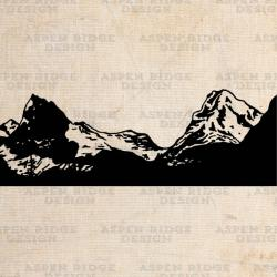 Glacier clipart mountain sketch