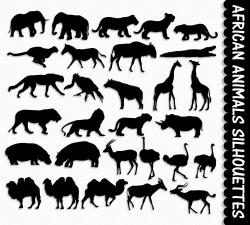 Africa clipart silhouette