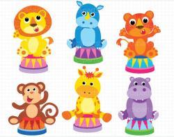 Circus clipart hippo