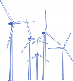Turbine clipart wind farm