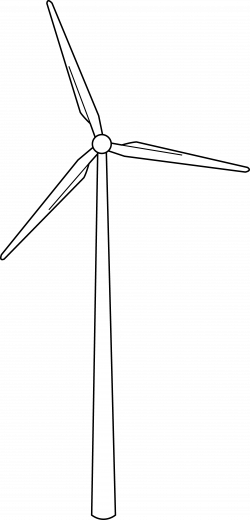 Drawn windmill wind turbine