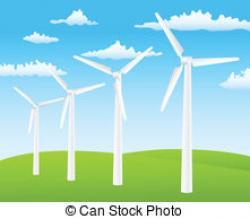 Turbine clipart wind power