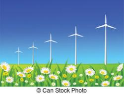 Wind Turbine clipart landscape