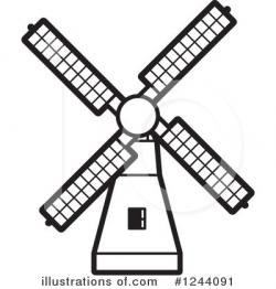 Mill clipart black and white