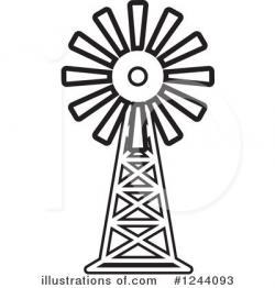 Drawn windmill clipart