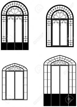 Window clipart arch window