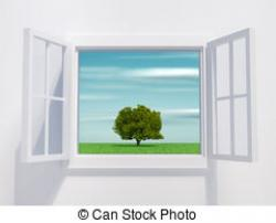 Windows clipart opened