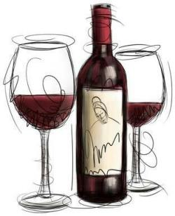 Vineyard clipart red grape