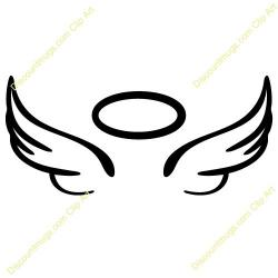 Halo clipart black angel