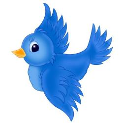 Bluebird clipart flying