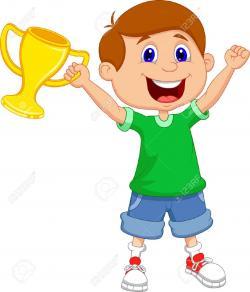 Trophy clipart success kid