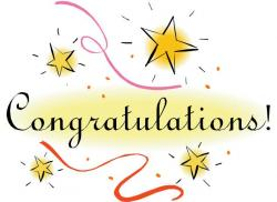 Winning clipart promotion congratulation