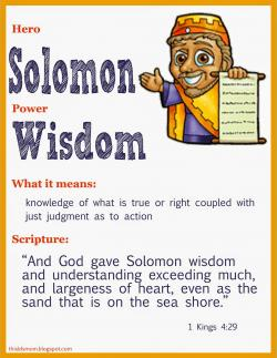 Wisdom clipart king solomon