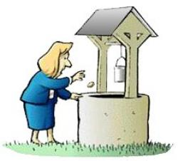 Wishing Well clipart coin