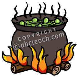Witchcraft clipart bubbling cauldron