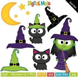 Witch Hat clipart polka dot