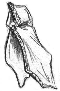 Sorceress clipart hooded