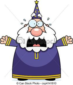 Wizard clipart scared