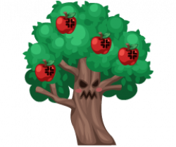 Wizard Of Oz clipart apple tree