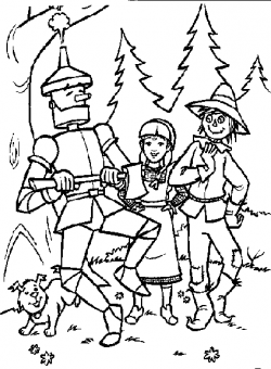 Wizard Of Oz clipart coloring page