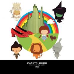 Wizard Of Oz clipart vector art