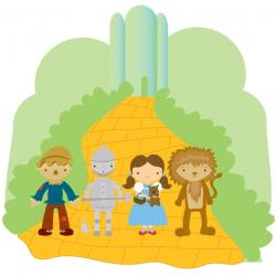 Wizard Of Oz clipart yellow brick road