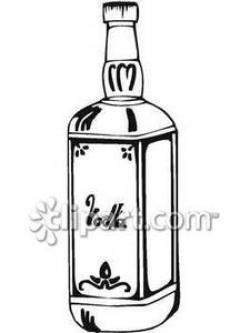 Vodka clipart black and white
