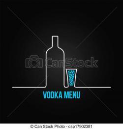Wodka clipart glass