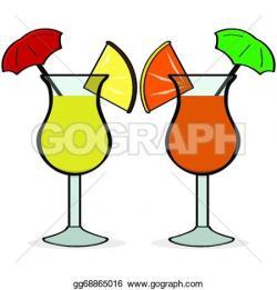 Vodka clipart umbrella drink