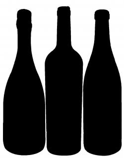 Liquor clipart wine bottle outline