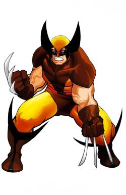 Wolverine clipart comic book