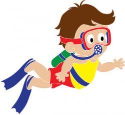 Diver clipart kid