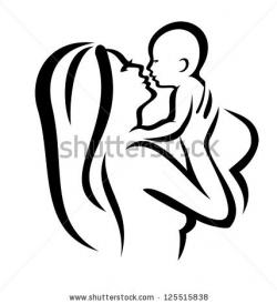 Mother And Baby clipart womb clipart