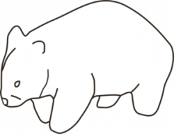 Wombat clipart black and white