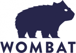 Wombat clipart blue
