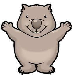 Wombat clipart cartoon