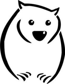 Wombat clipart drawing