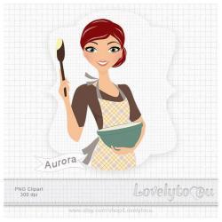 Women clipart baking