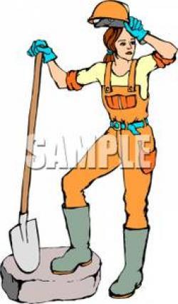 Women clipart construction worker