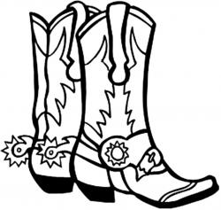 Boots clipart coloring page