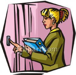 Women clipart door